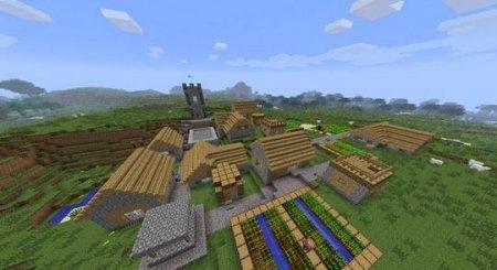 Деревня в Minecraft